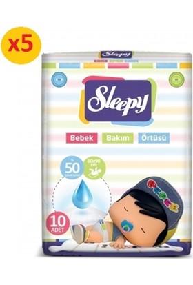 Sleepy Bebek Bakım Örtüsü 10'lu 60x90 cm 5 Paket