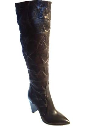 Shop And Shoes 104-3930-B77 Kadın Çizme Siyah