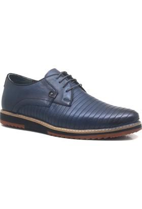 İzderi Hakiki Deri Lacivert Büyük Numara Casual Erkek Ayakkabı
