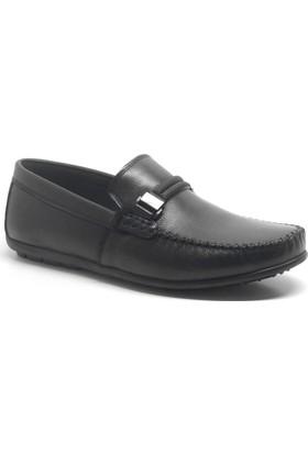 İzderi Hakiki Deri Siyah Loafer Erkek Ayakkabı