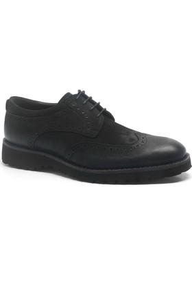 İzderi Hakiki Deri Siyah Yüksek Taban Günlük Erkek Ayakkabı