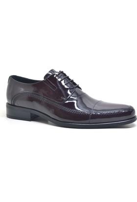 İzderi Hakiki Deri Bordo Rugan Klasik Erkek Ayakkabı