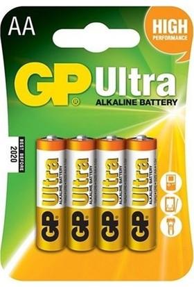 GP Batteries Ultra Alkalin AA Kalem Pil 4 Adet
