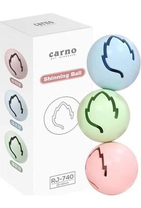 Carno Kedi Oyuncağı Işıklı Plastik Top 3lü