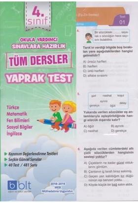 4.Sınıf Tüm Dersler Yaprak Test Bulut