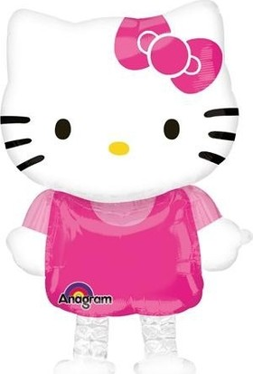 Parti Şöleni Hello Kitty Airwalkers Folyo Balon 1 Adet