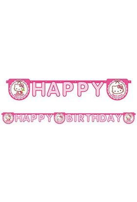 Hello Kitty Kalpler Happy Birthday Harf Afiş