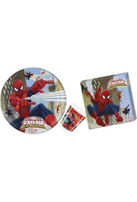Alins Spiderman Eko Paket Parti Seti 16 Kişilik