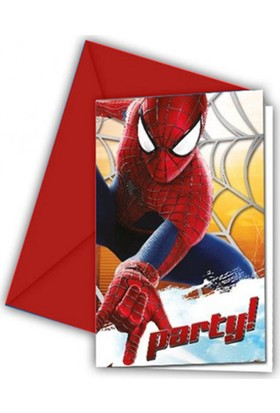 Tahtakale Toptancısı The Amazing Spiderman 2 Parti Davetiyesi (6 Adet)