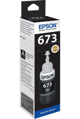 Epson T6731 L800-L1800 Black Mürekkep 70Ml