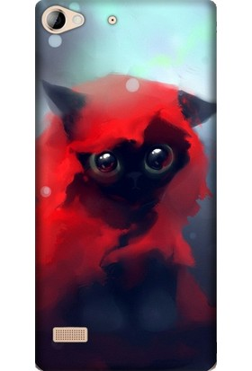 Cupcase Lenovo Vibe X2 Esnek Desenli Silikon Telefon Kapak Kılıf - Red Cat
