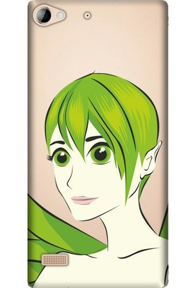 Cupcase Lenovo Vibe X2 Esnek Desenli Silikon Telefon Kapak Kılıf - Green Angel
