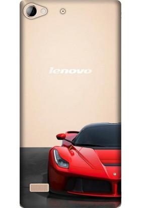 Cupcase Lenovo Vibe X2 Esnek Desenli Silikon Telefon Kapak Kılıf - Ferrari