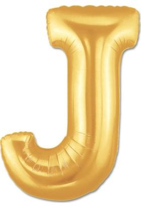 Parti Şöleni J Harf Folyo Balon Altın