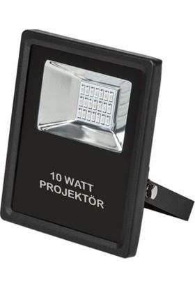 Foblight Led Projektör 10 Watt Siyah Kasa Beyaz Işık Smd Led