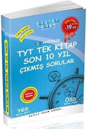 YKS Hazırlık TYT Tek Kitap Son 10 Yıl Çıkmış Sorular Akıllı Adam Yayınları
