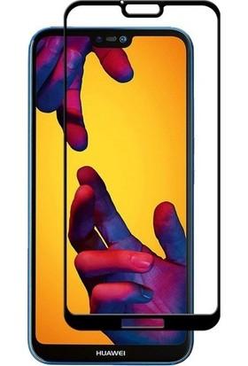 KNY Huawei Y7 2018 Full Kaplayan Fiber Nano Ekran Koruyucu Siyah