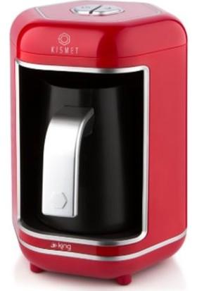 King K605 Kısmet Kırmızı Türk Kahve Makinesi