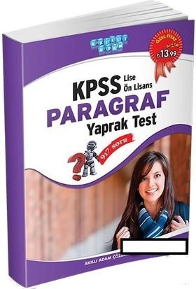 KPSS Lise Ön Lisans Paragraf Yaprak Test Akıllı Adam Yayınları