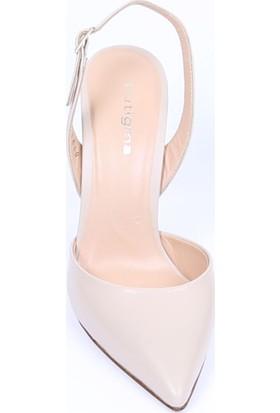 Butigma Bej Yüksek Topuklu Sandalet - Kadın