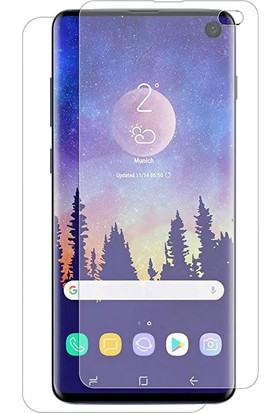 Case 4U Samsung Galaxy S10e Ön + Arka Tam Ekran Kaplayıcı Film Kavisler Dahil Şeffaf
