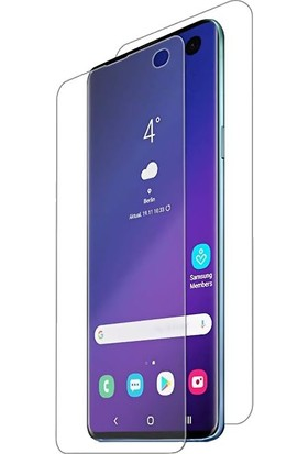 Case 4U Samsung Galaxy A8S Ön + Arka Tam Ekran Kaplayıcı Film Kavisler Dahil Şeffaf