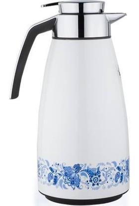 Penguen PNG 3006 Çiçek Desenli İçi Cam Çay Termos 1 Litre