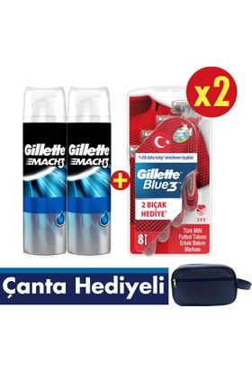 e9129af857c02 Gillette Blue3 16'lı Tıraş Bıçağı Milli Takım Özel Paketi + 2'li Jel ...