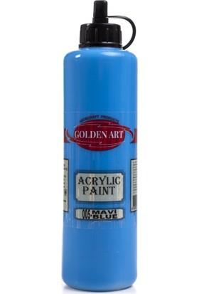 Hobi24 Golden Art Akrilik Boya 500ml - 005 Mavi