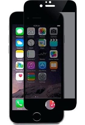 AkseStore Apple iPhone 8 Plus Gizli 5D Hayalet Ekran Koruyucu Cam (Siyah)