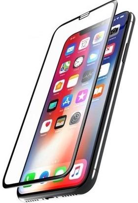 AkseStore Apple iPhone XS Gerçek 5D Süper Kavisli Ekran Koruyucu Cam (Siyah)
