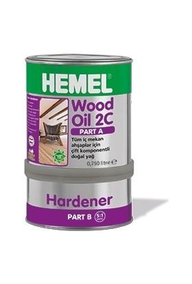Hemel Wood Oil 2C Set Yağ İç Mekan 0,90 Lt