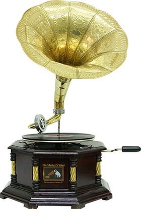 Mory Concept Gramofon Sekizgen Köşeleri Bronz İşli 533