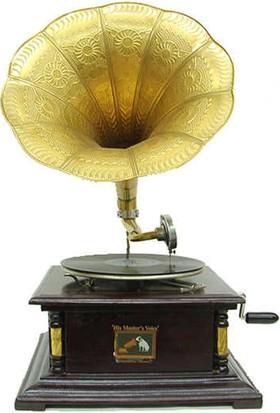 Mory Concept Gramofon Kare Köşeleri Bronz İşli 533