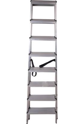 Yapinoks 8+8 Çift Çıkışlı Alüminyum Merdiven 16 Basamaklı
