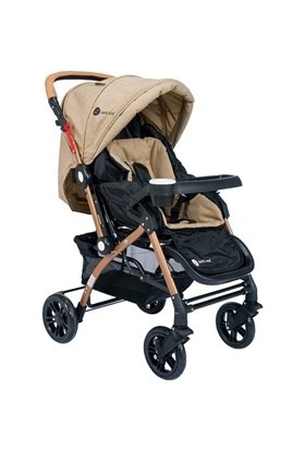 Safe Line Quest Gold Çift Yönlü Bebek Arabası Kahverengi