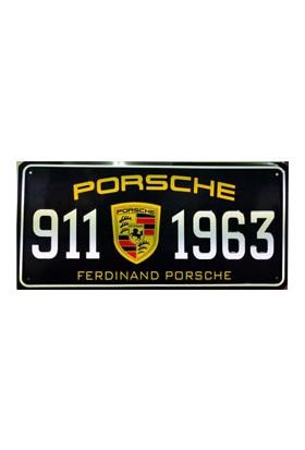 Sibiro Dekoratif Plaka Porsche 911