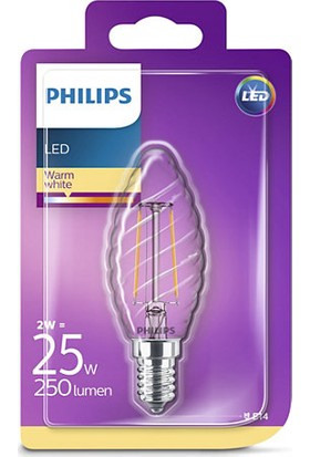 Philips LED Classic 25W ST35 E14 Non-Dim 2700K Led Filament Ampul