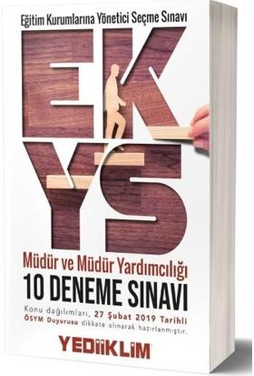 Yediiklim Yayınları Eğitim Kurumlarına Yönetici Seçme Sınavına Hazırlık Müdür Ve Müdür Yardımcılığı 10 Deneme Sınavı