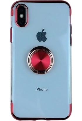 Teleplus Apple iPhone XR Lazer Yüzüklü Silikonlu Kılıf Kırmızı