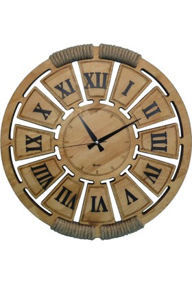 Siah Romblack Gerçek Çam Duvar Saati 57 Cm