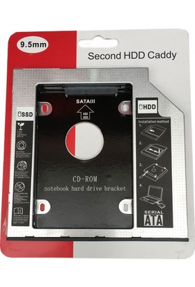 Platoon Hdd Caddy 9.5Mm Sata 3.0 2Nd Hdd Caddy