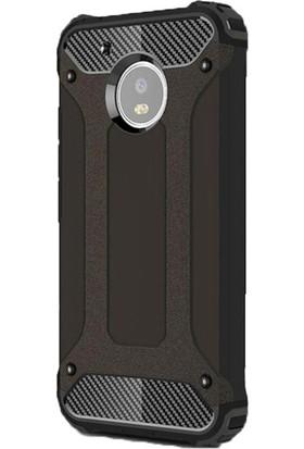 Jopus Lenovo Moto G5S Plus Kılıf Ultra Lüx Çift Katmanlı Darbe Emici Crash Kılıf + Nano Ekran Koruyucu - Siyah