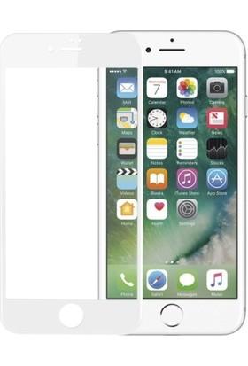 Jopus Apple iPhone 8 Plus 5D Nano Tam Kaplayan Ekran Koruyucu - Beyaz