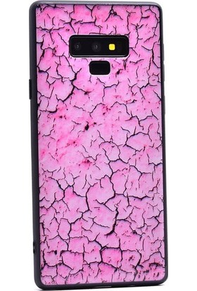 Ehr. Samsung Galaxy Note 9 Kılıf Ultra Lüx Mermer Desenli Panepan TPU Kılıf + Nano Ekran Koruyucu Pembe