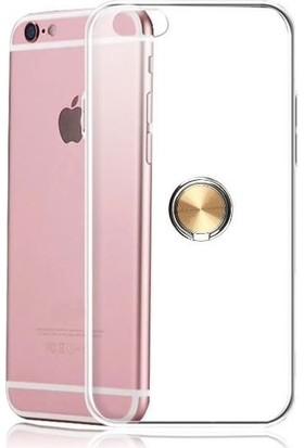 Casestore Apple iPhone 6S Plus Kılıf Ultra Lüx Araç İçi Mıknatıslı Yüzüklü Şeffaf TPU Kılıf