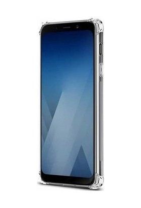 Casestore Samsung Galaxy J4 Plus Kılıf Dört Köşeli Anti Crack Soft TPU Silikon Kılıf