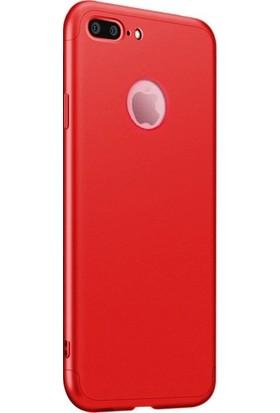 Casestore Apple iPhone 7 Plus Ön Arka 360 Derece Korumalı Sert Silikon Kılıf + Nano Ekran Koruyucu