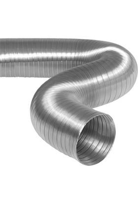 Semiafs Şömine Borusu 304 L Kalite Yarı Esnek Çelik Boru 180 mm