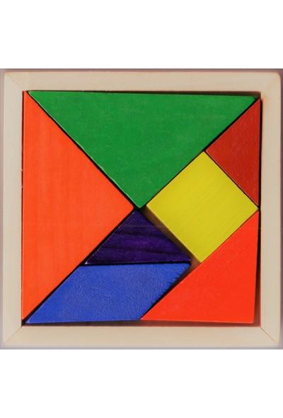 Direkstoktan Ahşap Tangram Zeka Oyunu 7'li - 9x9 cm